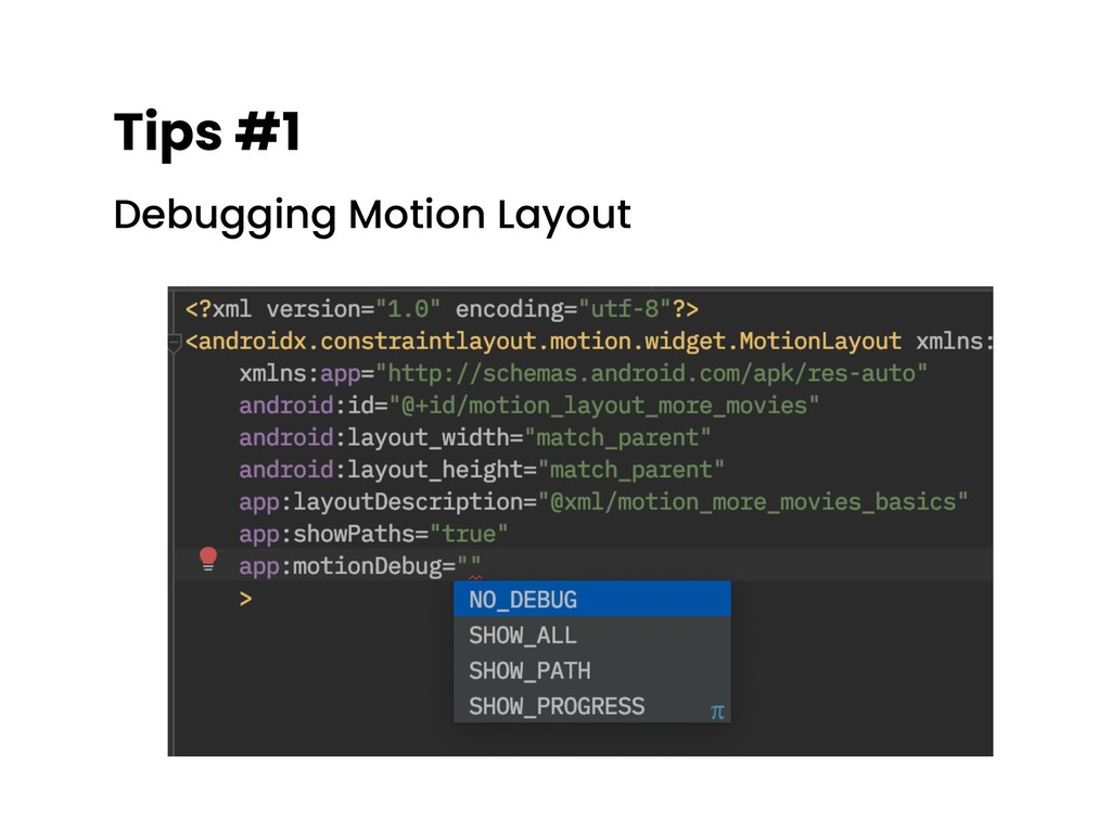 Tips #1 Debugging Motion Layout