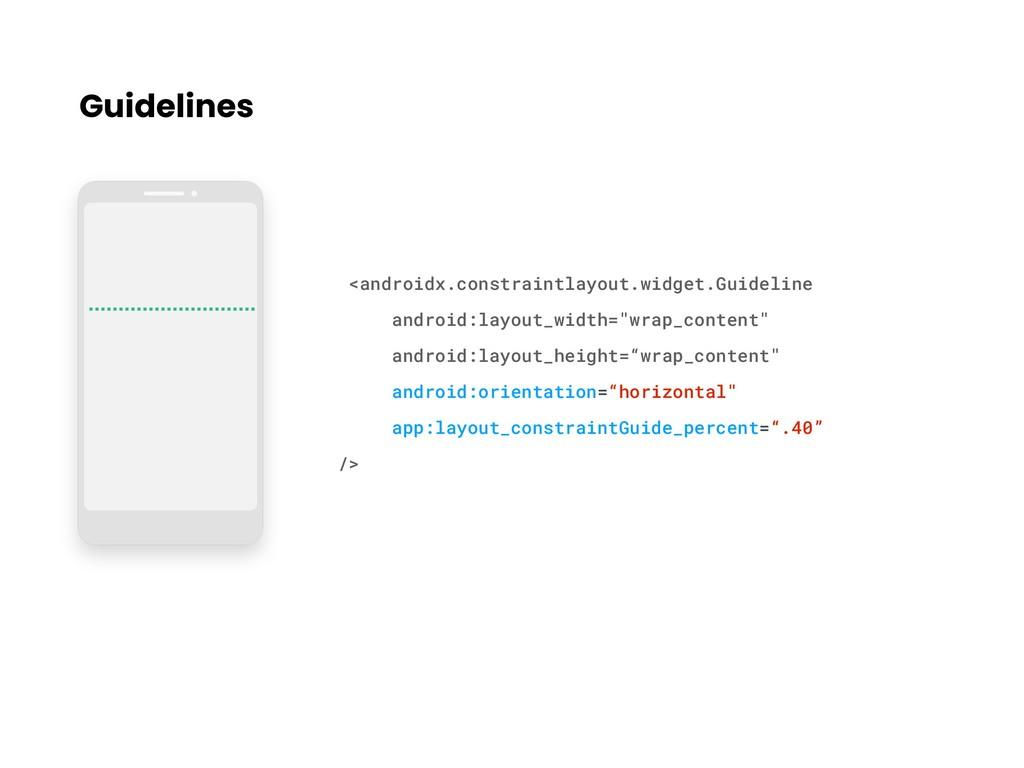 Guidelines <androidx.constraintlayout.widget.Gu...