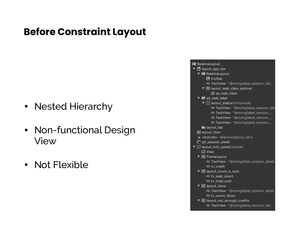 • Nested Hierarchy • Non-functional Design View...