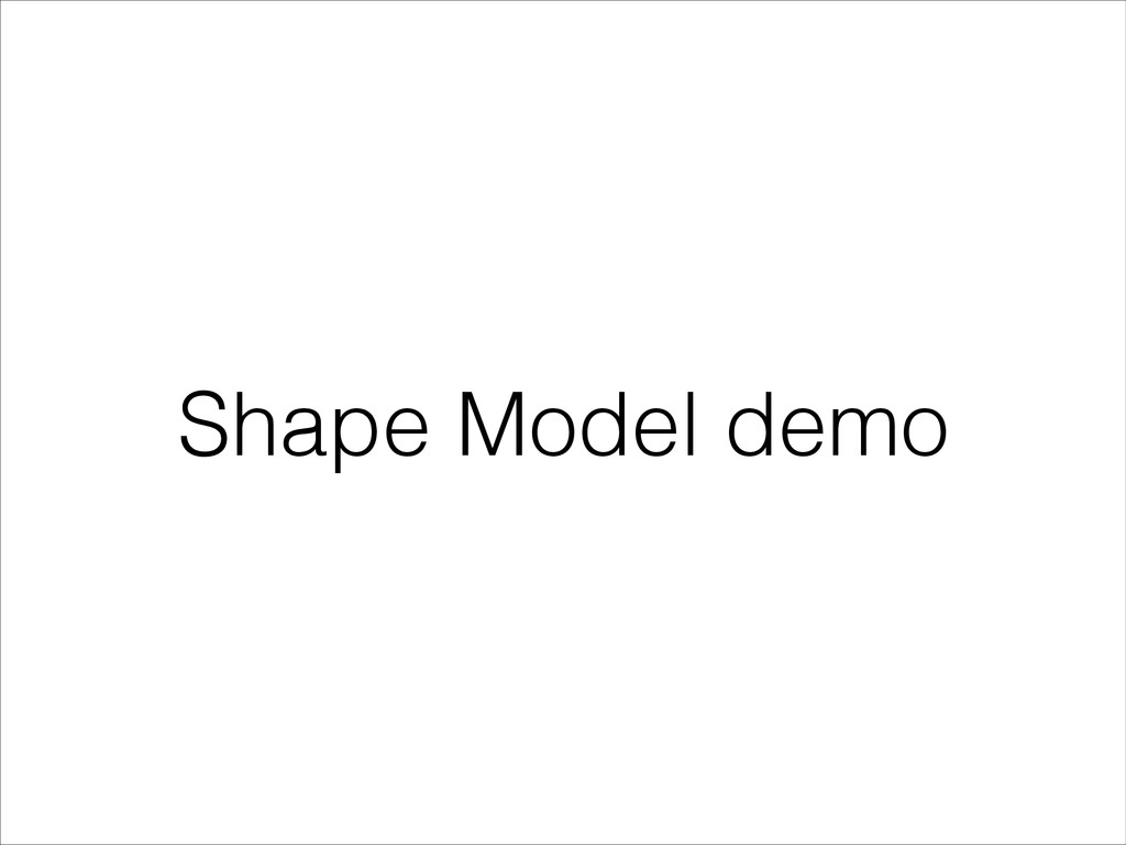 Shape Model demo