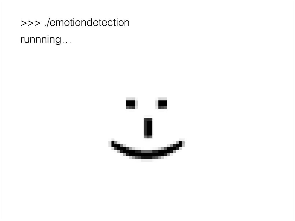 >>> ./emotiondetection runnning…