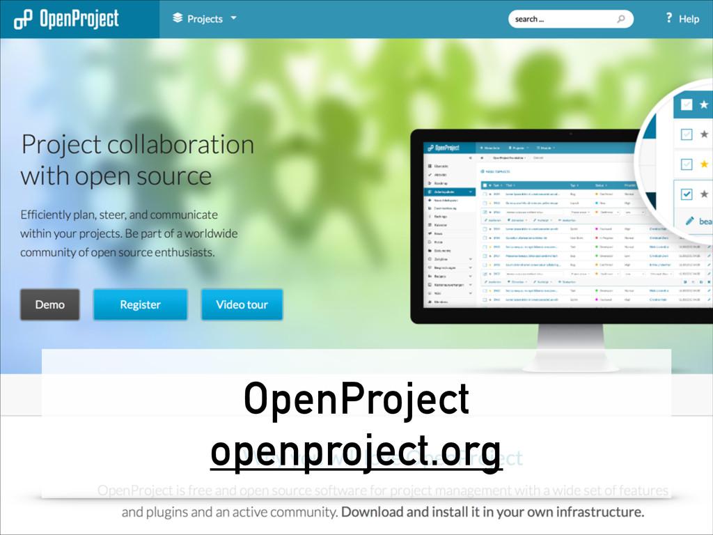 OpenProject openproject.org