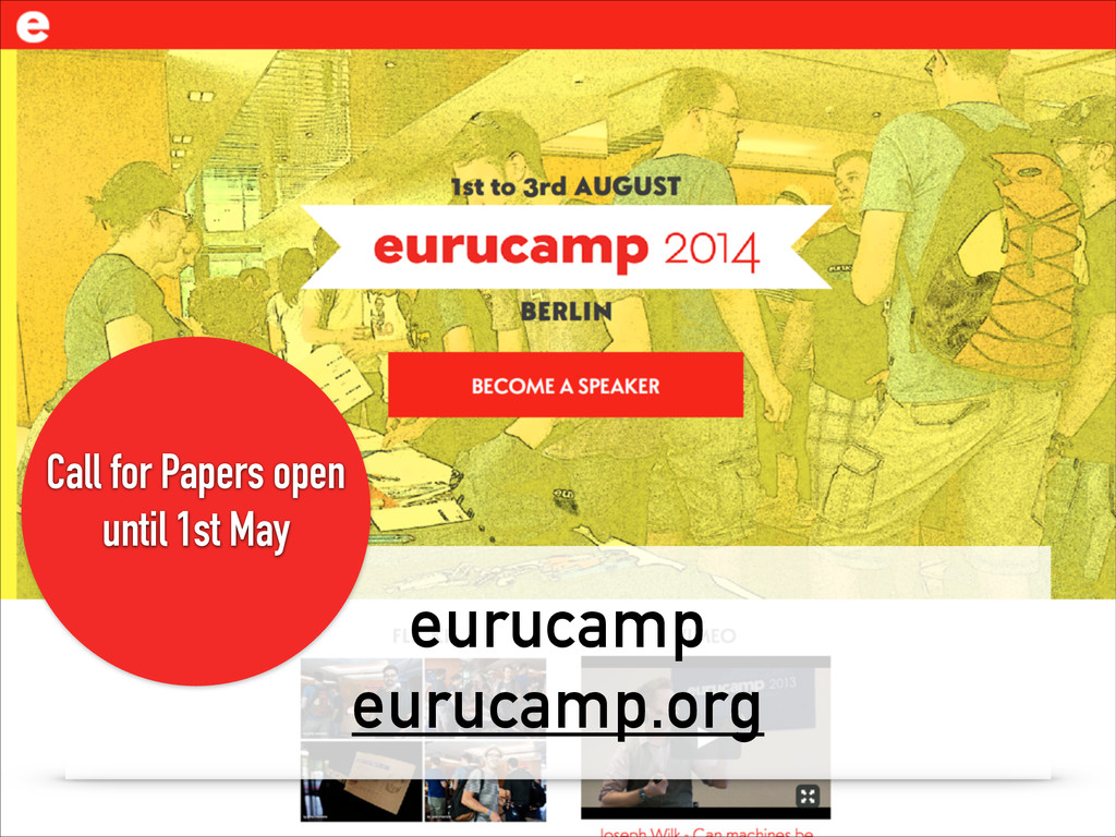 eurucamp eurucamp.org Call for Papers open unti...