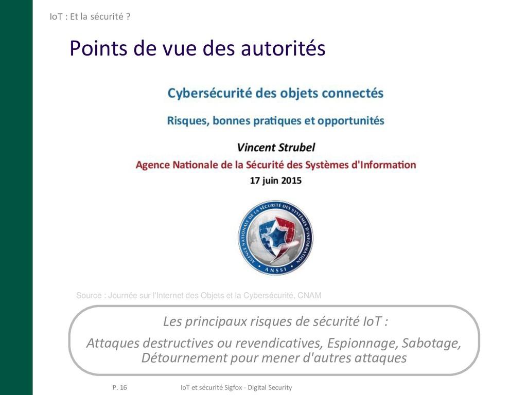 Points de vue des autorités IoT : Et la sécurit...