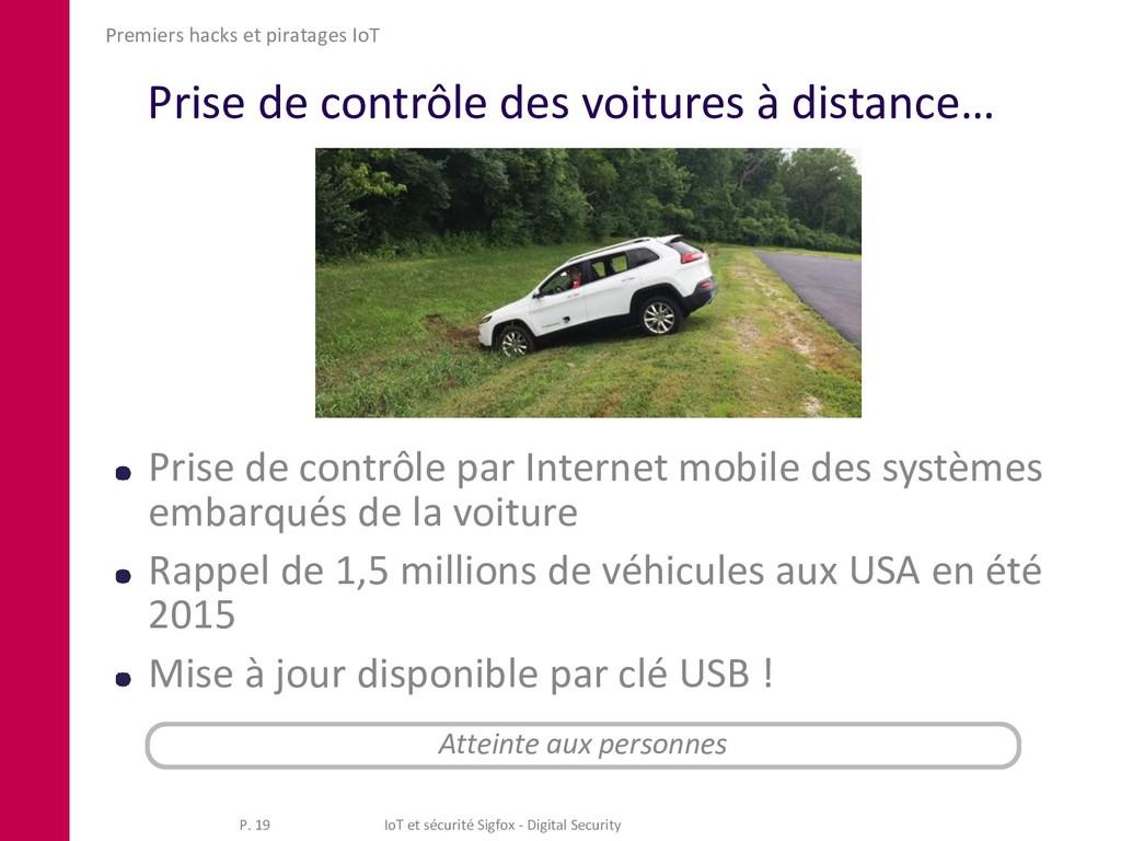 Prise de contrôle des voitures à distance… Pris...
