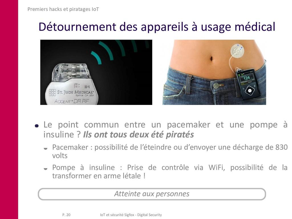 Détournement des appareils à usage médical Prem...