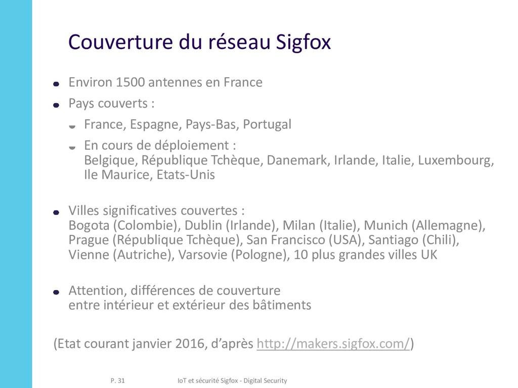 Couverture du réseau Sigfox Environ 1500 antenn...