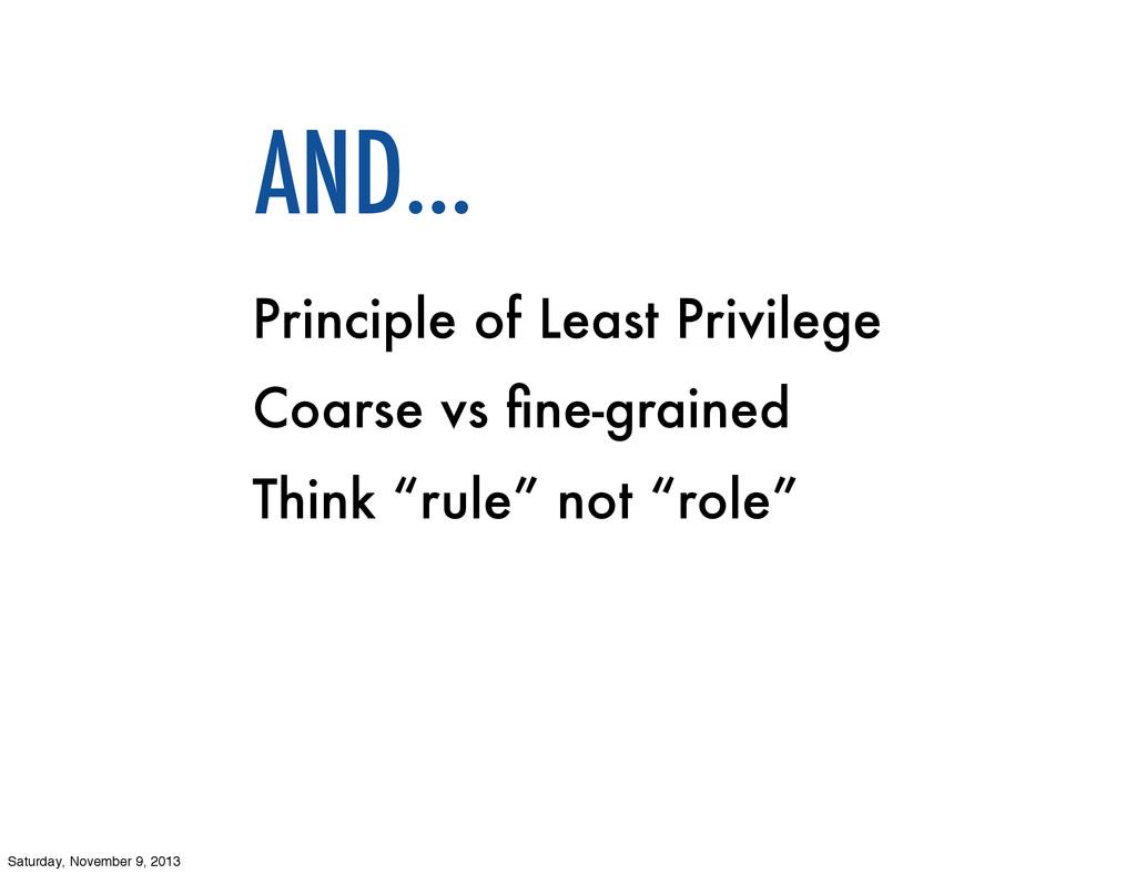 Principle of Least Privilege Coarse vs fine-grai...