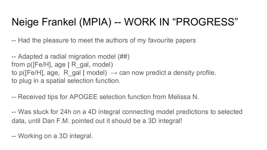 """Neige Frankel (MPIA) -- WORK IN """"PROGRESS"""" -- H..."""
