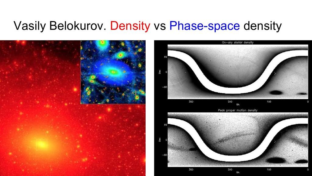 Vasily Belokurov. Density vs Phase-space density