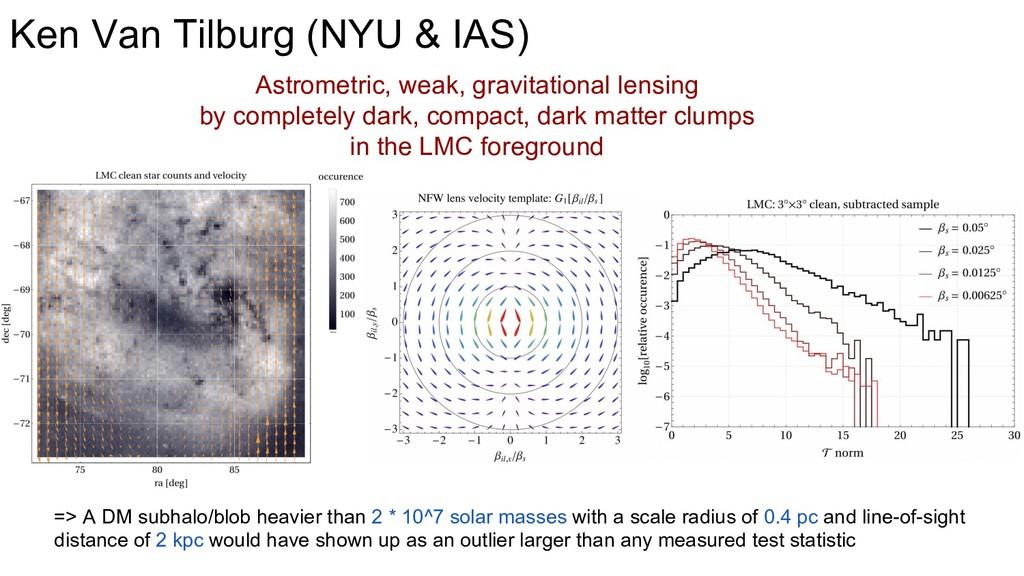 Ken Van Tilburg (NYU & IAS) => A DM subhalo/blo...