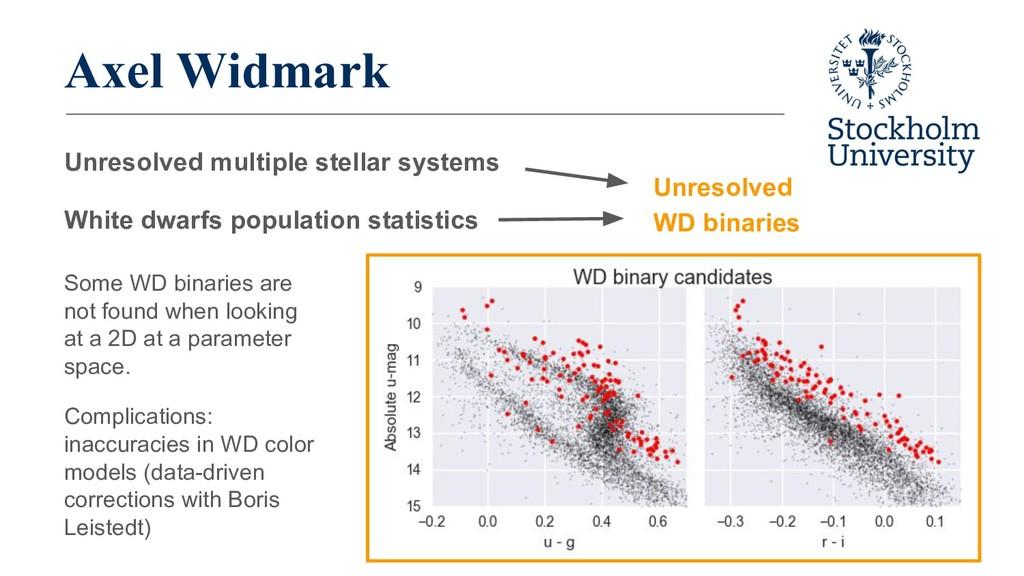 Axel Widmark Unresolved multiple stellar system...