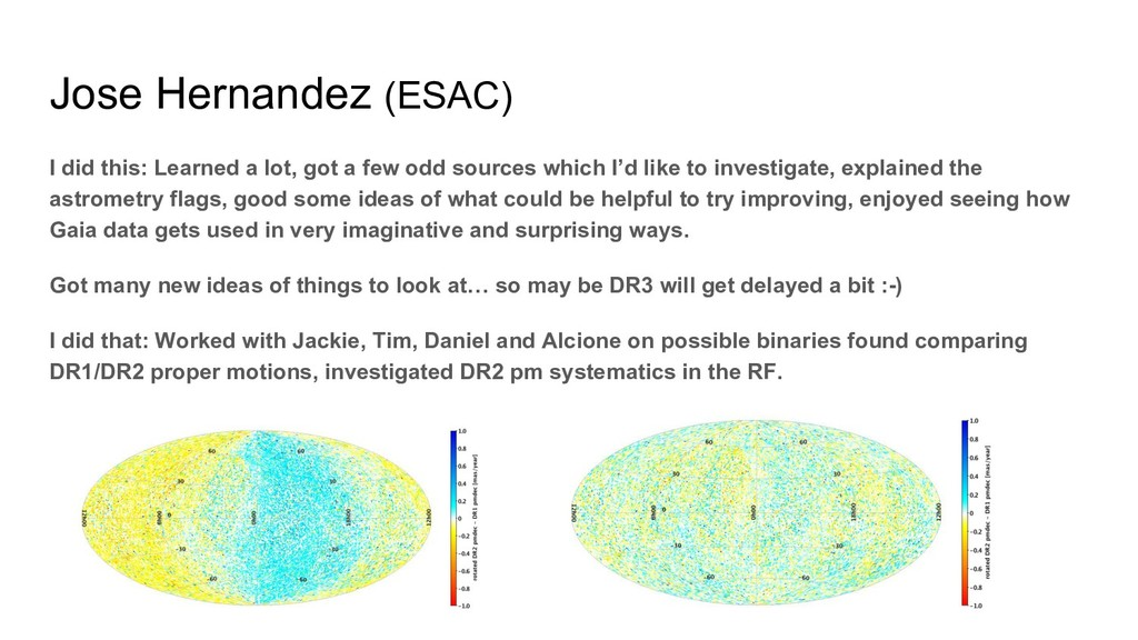 Jose Hernandez (ESAC) I did this: Learned a lot...