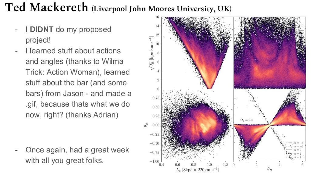 Ted Mackereth (Liverpool John Moores University...
