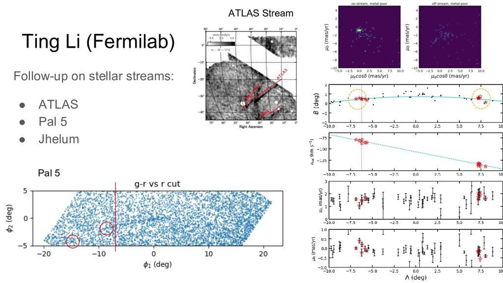 Ting Li (Fermilab) Follow-up on stellar streams...