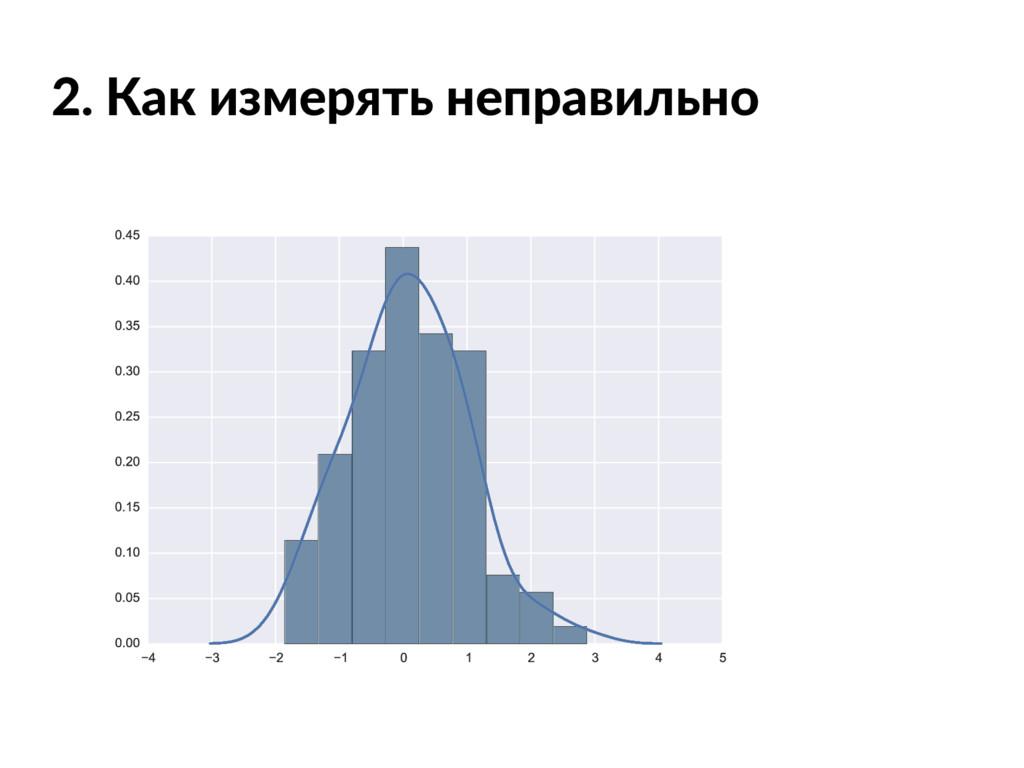 2. Как измерять неправильно