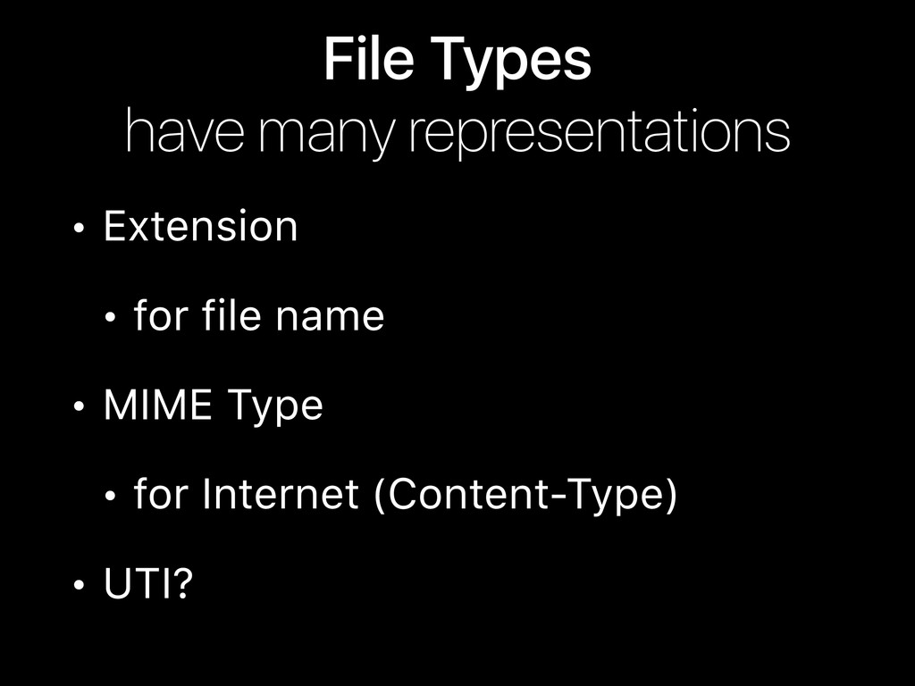 File Types have many representations • Extensi...