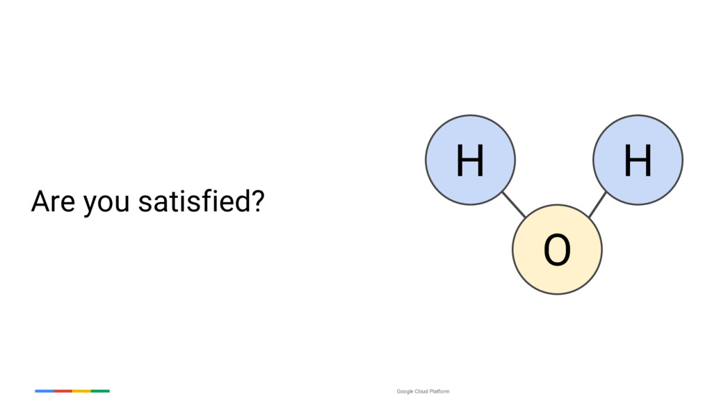 Google Cloud Platform Are you satisfied? H H O
