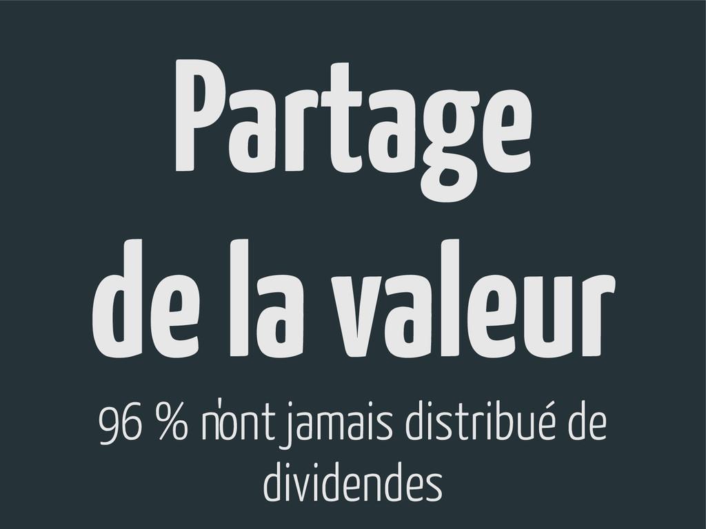 Partage de la valeur 96 % n'ont jamais distribu...