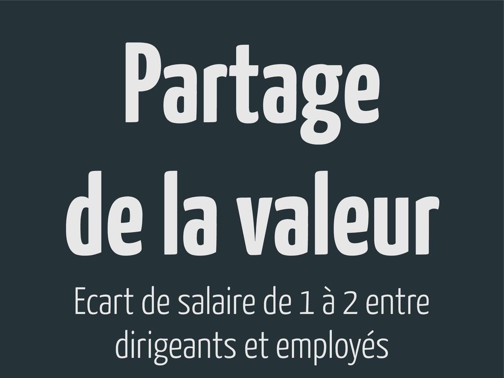 Partage de la valeur Ecart de salaire de 1 à 2 ...