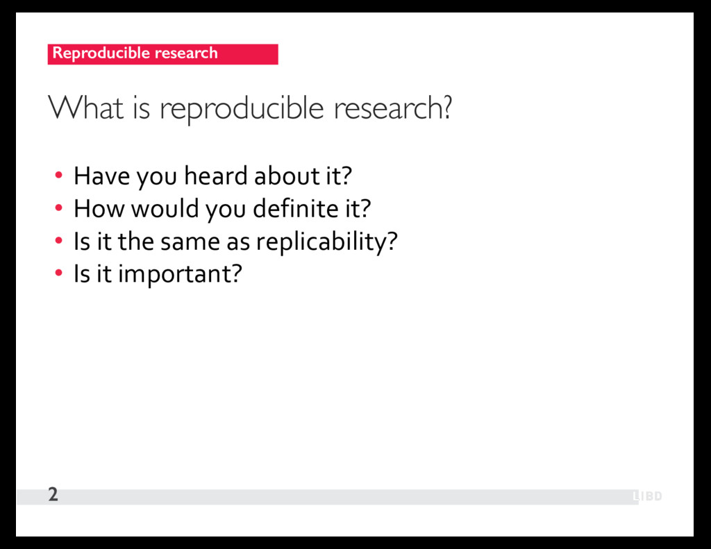 Reproducible research 2 What is reproducible re...