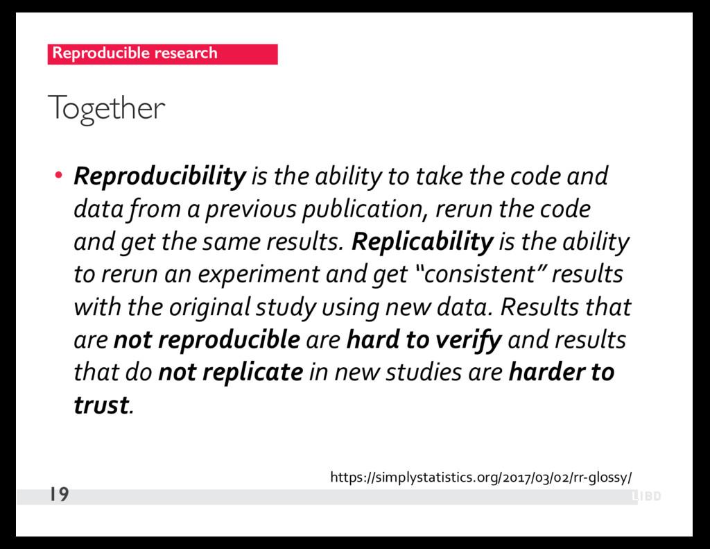 Reproducible research 19 Together • Reproducibi...