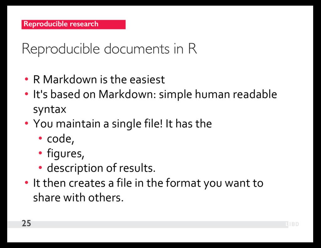 Reproducible research 25 Reproducible documents...