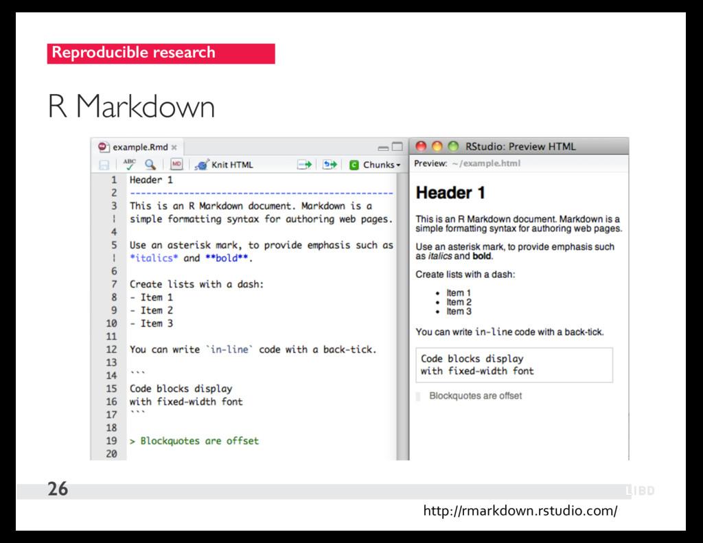Reproducible research 26 R Markdown http://rmar...