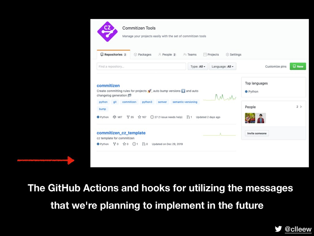 @clleew The GitHub Actions and hooks for utiliz...