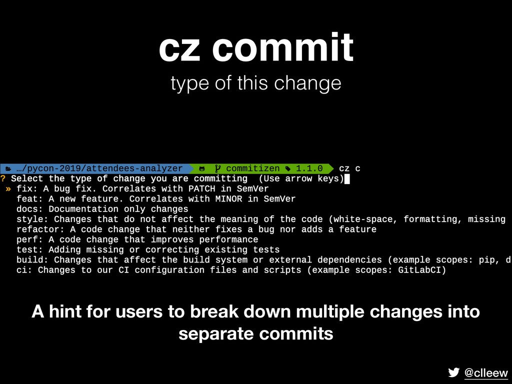 @clleew cz commit type of this change A hint fo...