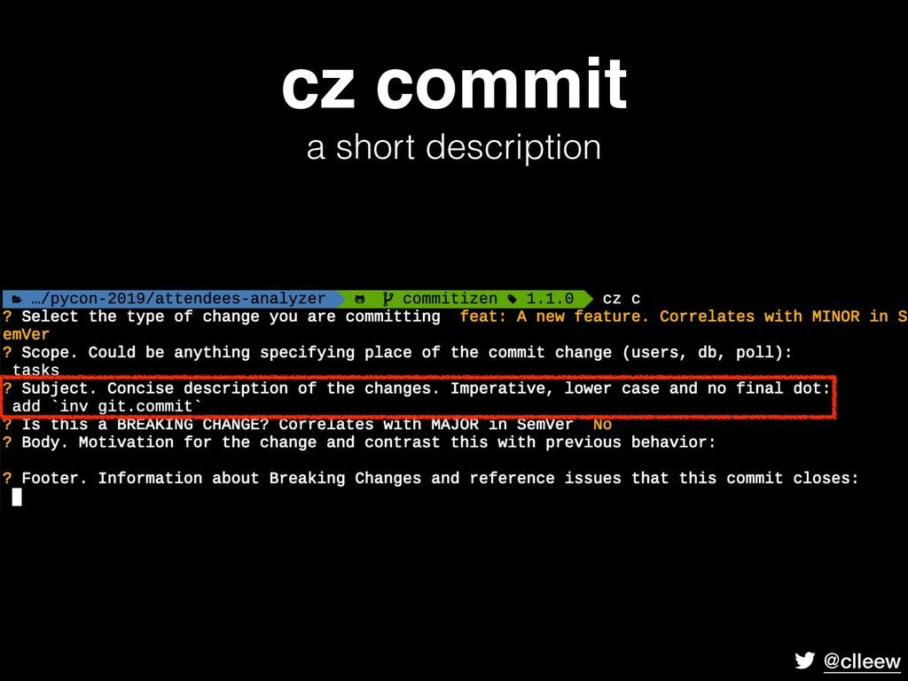 @clleew cz commit a short description
