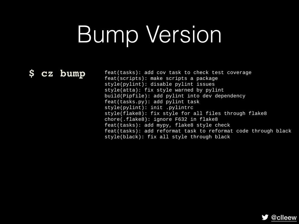 @clleew Bump Version $ cz bump