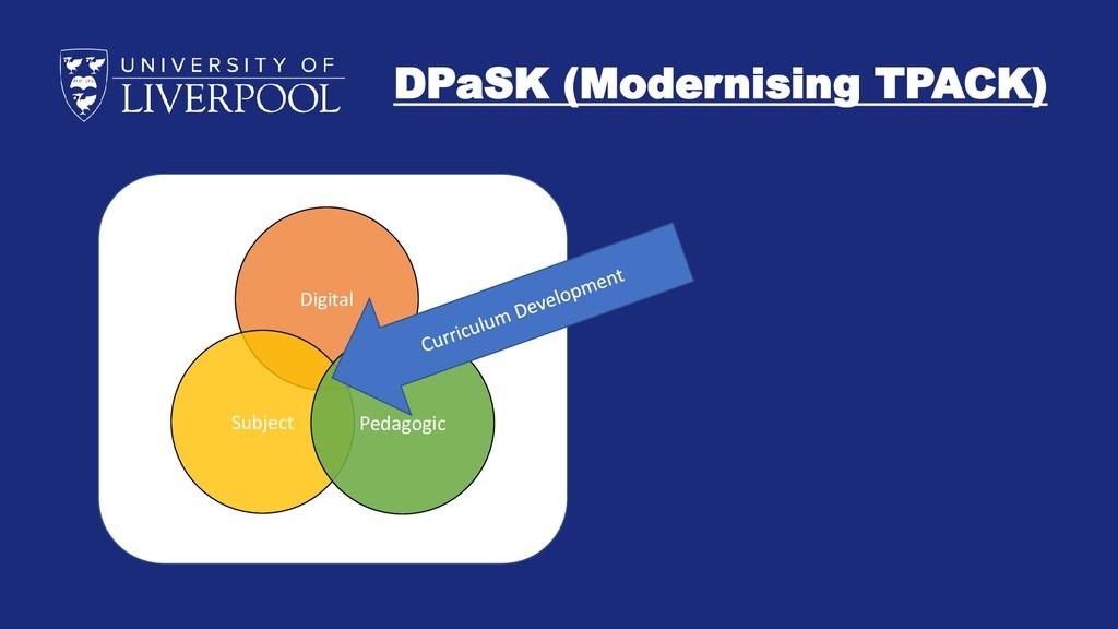 DPaSK (Modernising TPACK) Digital Subject Pedag...