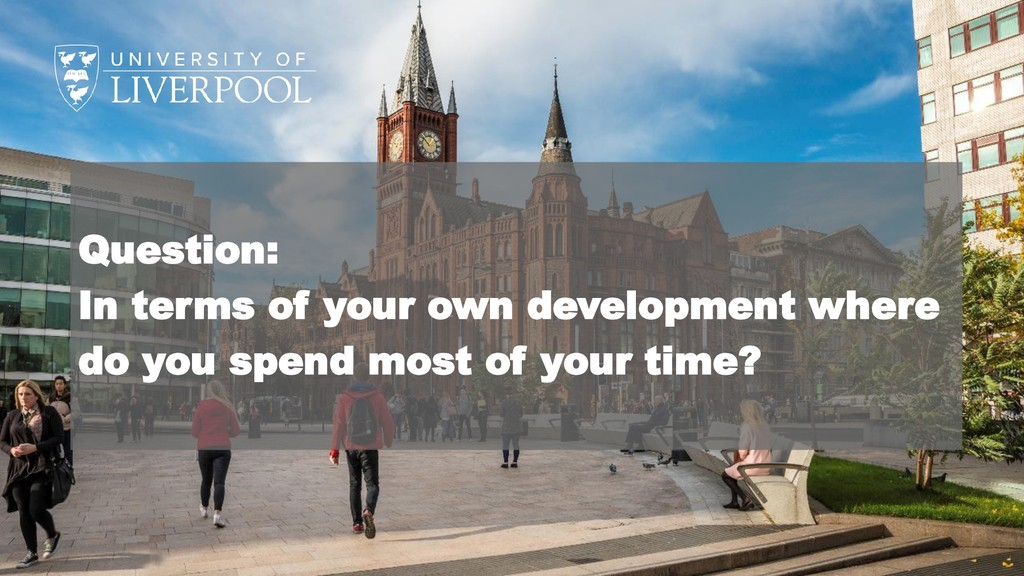 Question: In terms of your own development wher...