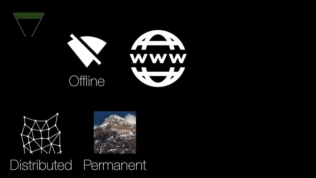 Permanent Distributed Offline