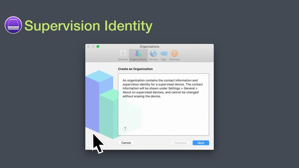 Supervision Identity Next
