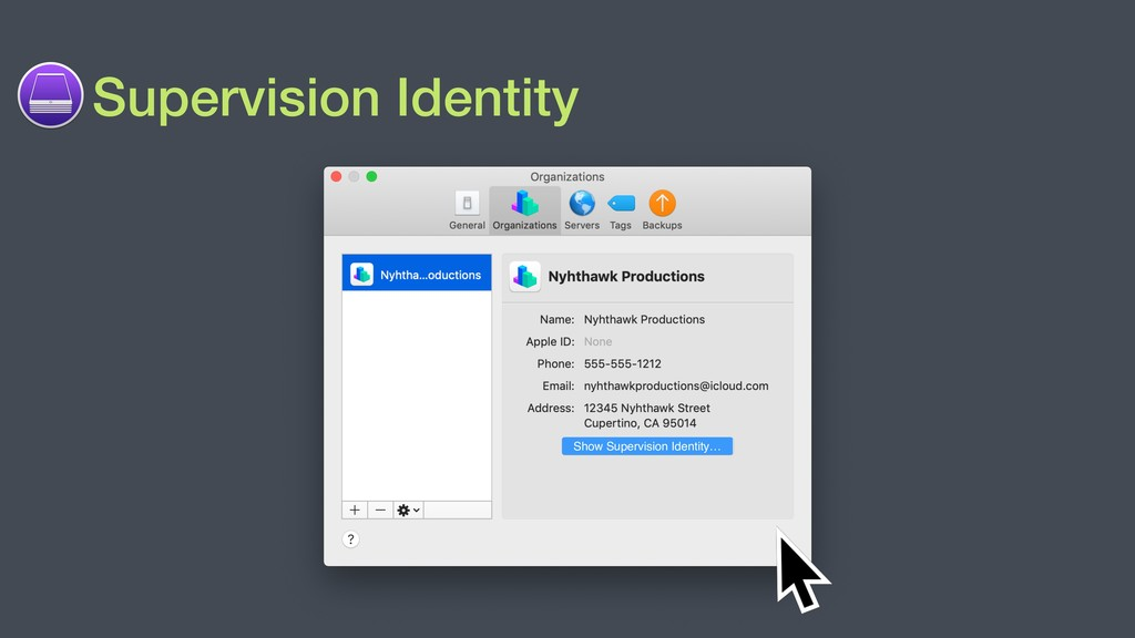 Supervision Identity Show Supervision Identity…