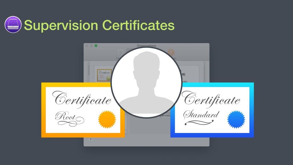Supervision Certificates