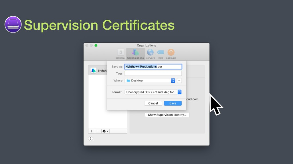 Supervision Certificates Save