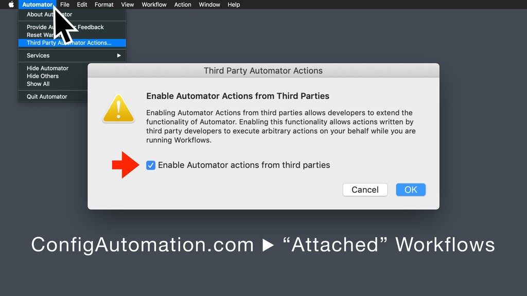 """OK ConfigAutomation.com ▶ """"Attached"""" Workflows"""