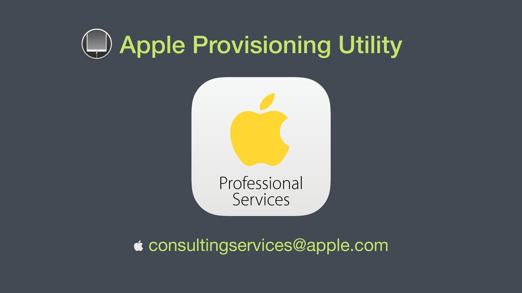 Apple Provisioning Utility  consultingservices...