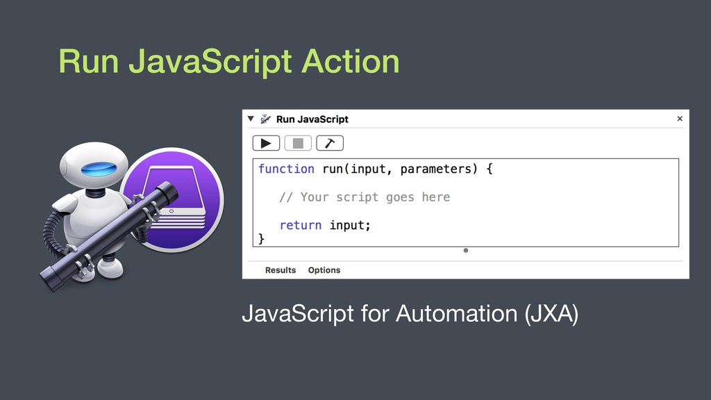 JavaScript for Automation (JXA) Run JavaScript ...