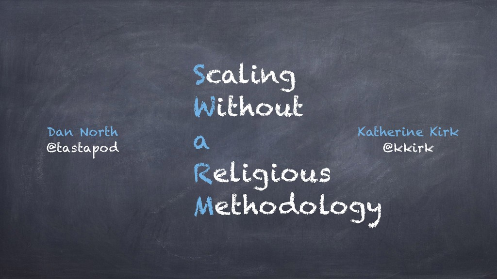 Scaling Without a Religious Methodology Katheri...