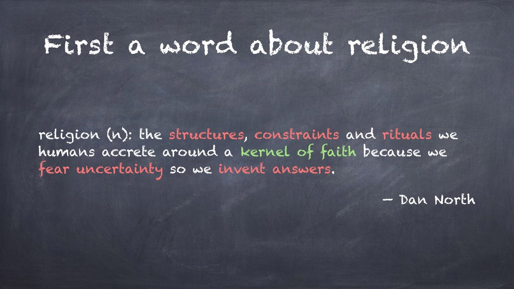 First a word about religion religion (n): the s...