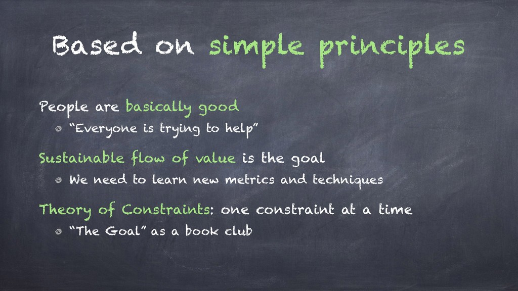 Based on simple principles People are basically...