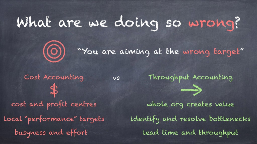 "What are we doing so wrong? ""You are aiming at ..."