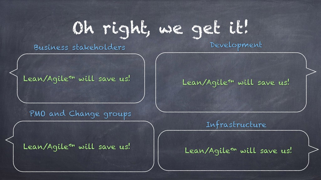 Oh right, we get it! Lean/Agile™ will save us! ...