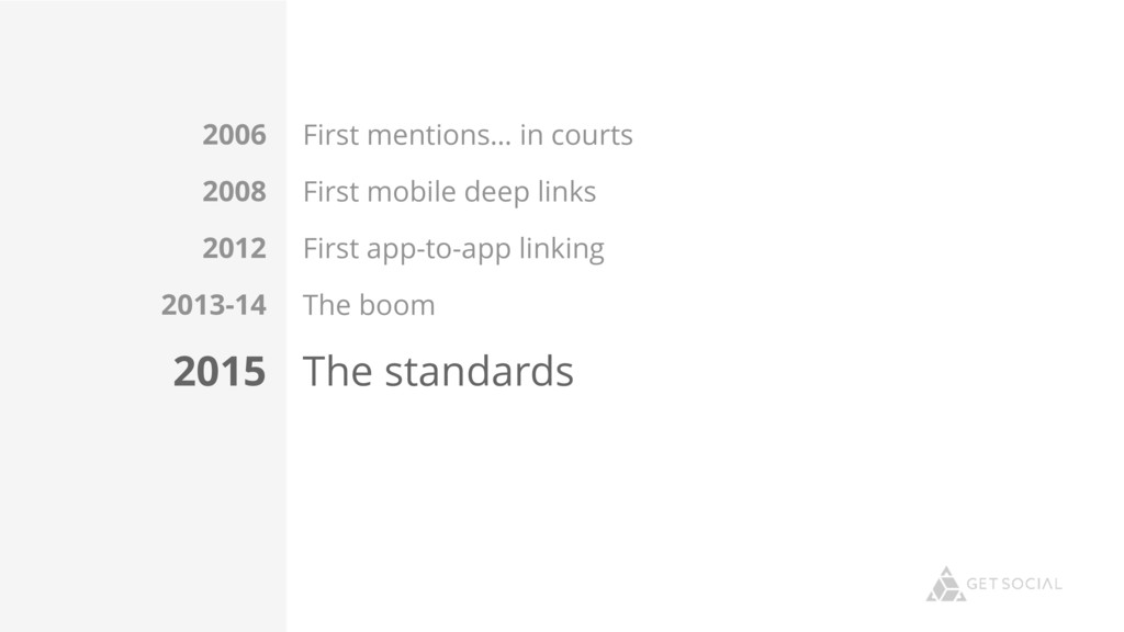 First mentions… in courts First mobile deep lin...