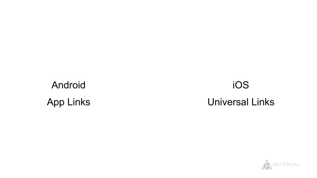 Android App Links iOS Universal Links