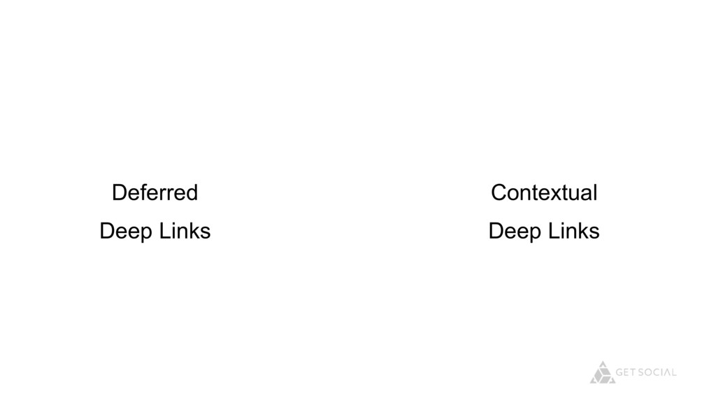 Deferred Deep Links Contextual Deep Links